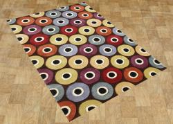 Alliyah Handmade Coca Brown New Zealand Blend Wool Area Rug (8' x 10') - Thumbnail 1