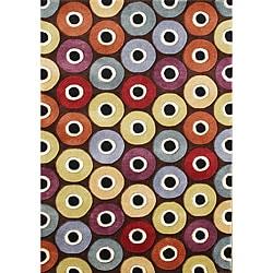 Alliyah Handmade Coca Brown New Zealand Blend Wool Area Rug (8' x 10')