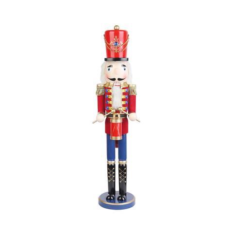 Christmas 24-inch Red Nutcracker Drummer Soldier