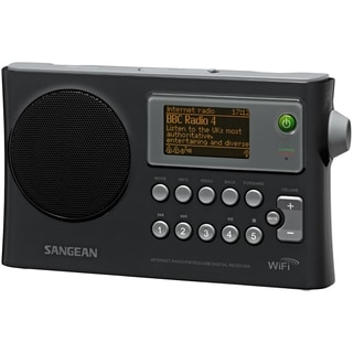 "Sangean WFR-28 Internet Radio - 1.3"" Screen - Wireless LAN - Black"