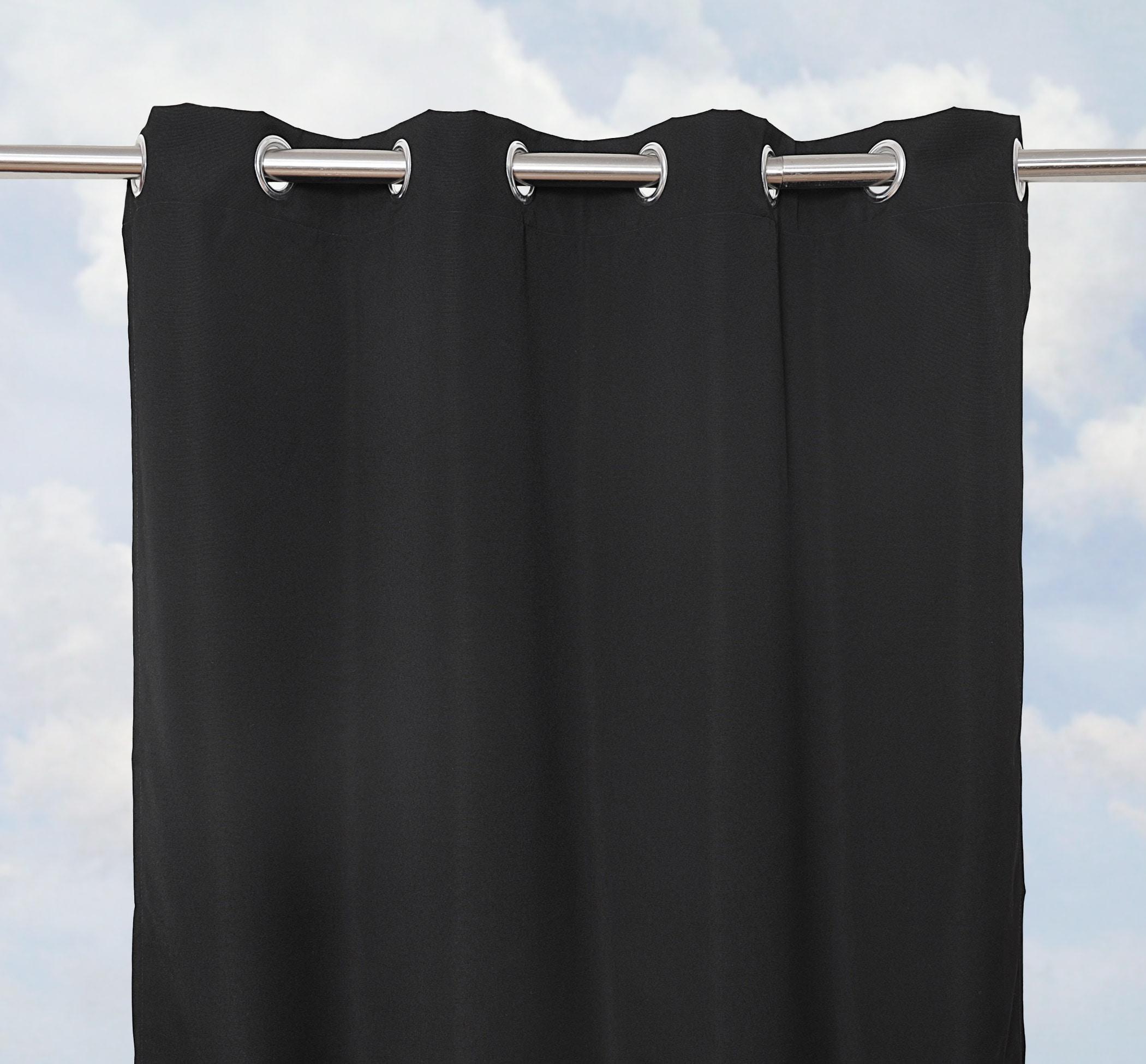 Sunbrella Bay View Black 96-inch Outdoor Curtain Panel