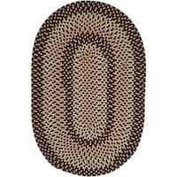 Stable Hill Blackberry Braided Reversible Rug USA MADE - 5' x 8'