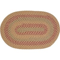 Stable Hill Tea Braided Reversible Rug USA MADE - 8' x 11'