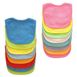 Neat Solutions Multi-color Terry Feeder Bibs (Pack of 8)