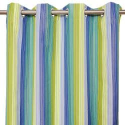 Sunbrella Bay View Seaside 84-inch Outdoor Curtain Panel - Thumbnail 1