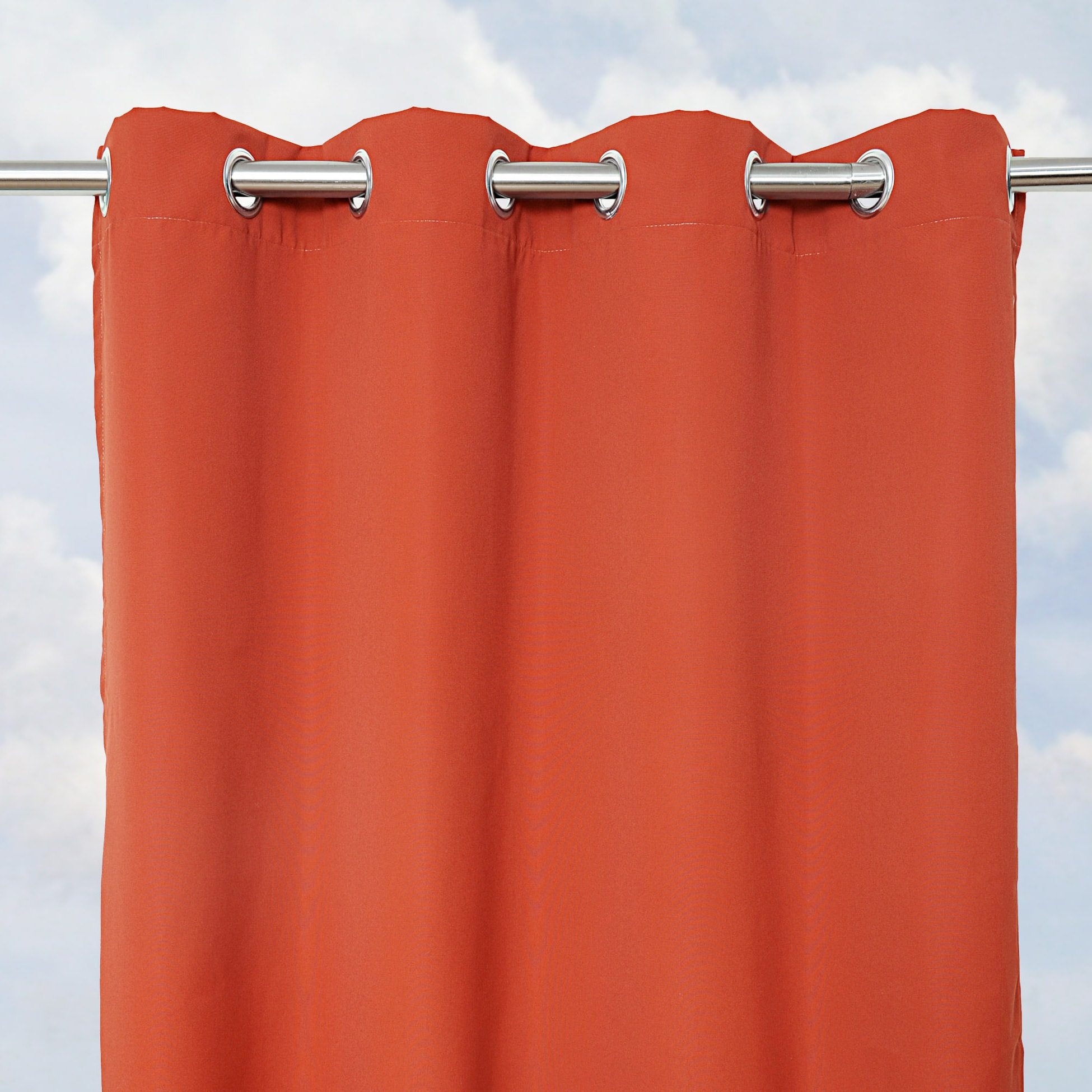Sunbrella Bay View Terracotta 84-inch Outdoor Curtain Panel