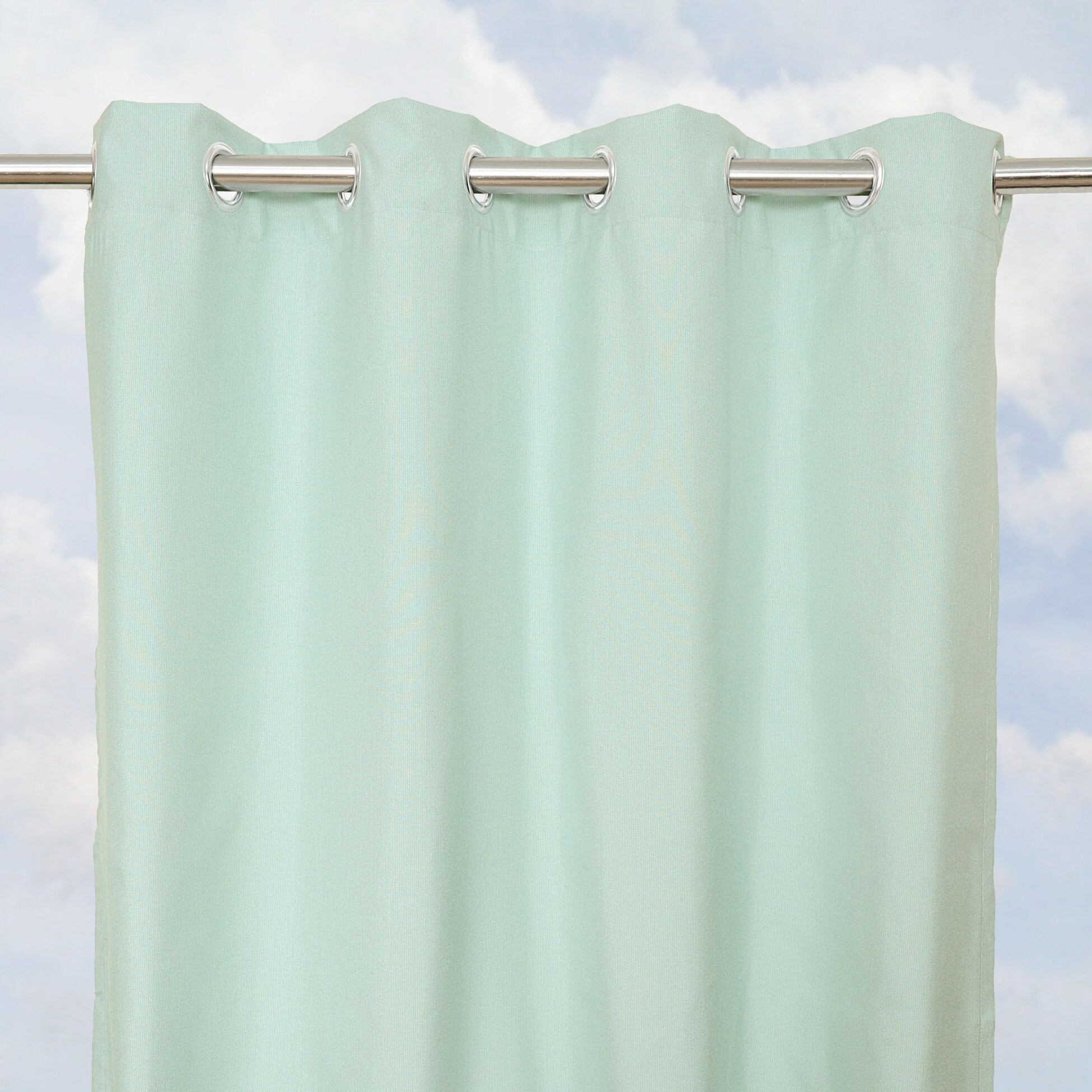 Sunbrella Bay View Mist 84-inch Outdoor Curtain Panel