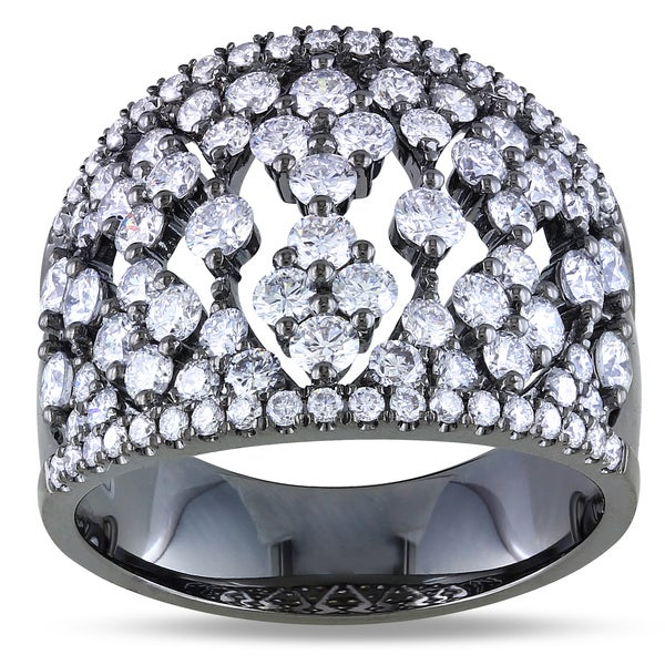 Miadora  18k White Gold 2ct TDW Diamond Ring (G-H, SI1-SI2) (Size 7)