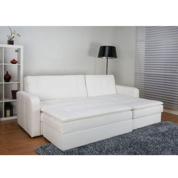Fabulous Shop Denver White Double Cushion Storage Sectional Sofa Bed Ocoug Best Dining Table And Chair Ideas Images Ocougorg