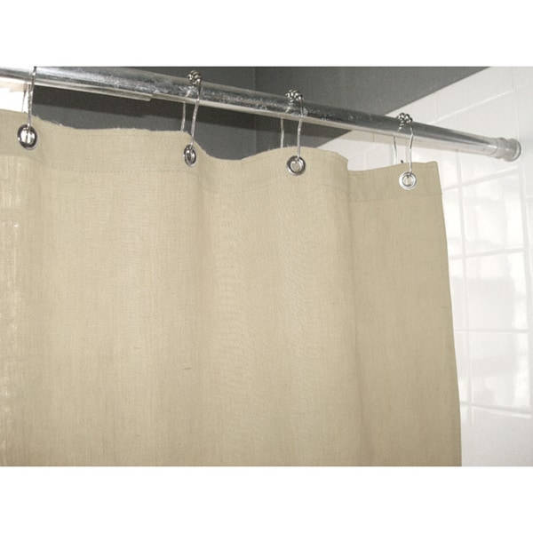 Eco Friendly Natural Hemp Shower Curtain