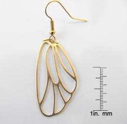 Thumbnail 3, Adrienne Audrey Jewelry 14K Gold Butterfly Wing Earrings. Changes active main hero.