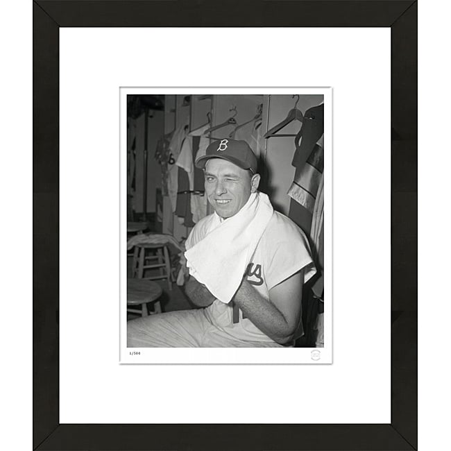 RetroGraphics Hand-Numbered Gil Hodges Framed Sports Photo