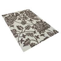Alliyah Handmade Vanilla Ice New Zealand Blend Wool Rug (5'x8') - 5' x 8'