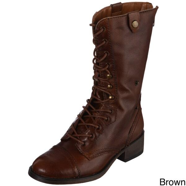 Steve Madden Women's P-Peterr Leather Boots