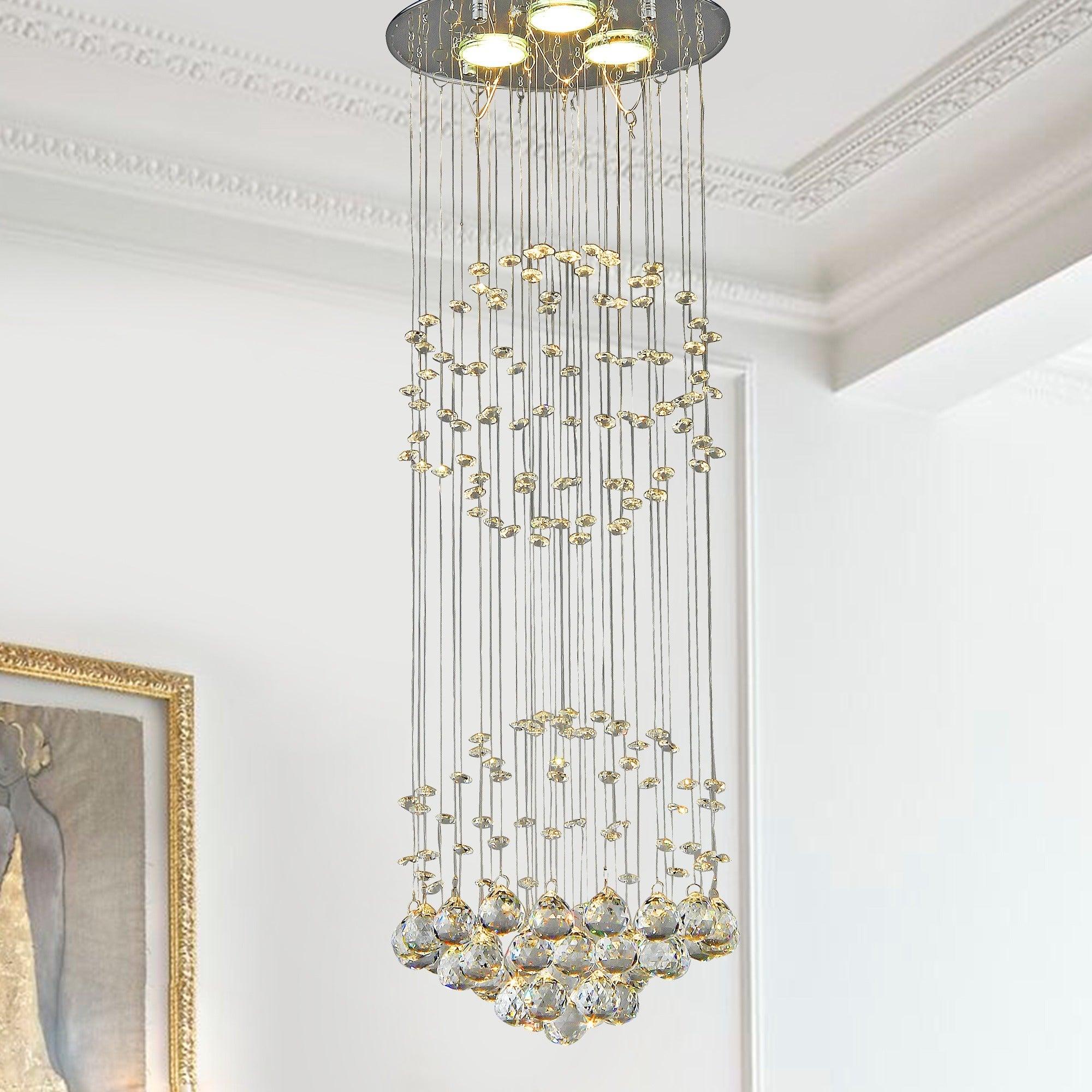 Crystal shower chandelier