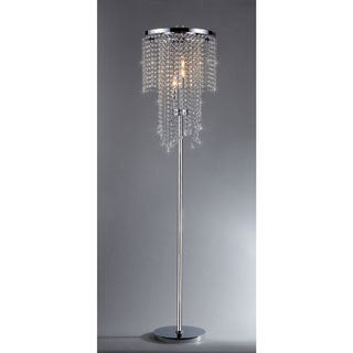 Chrome and crystal floor lamp free shipping today for Ottoni floor lamp chrome