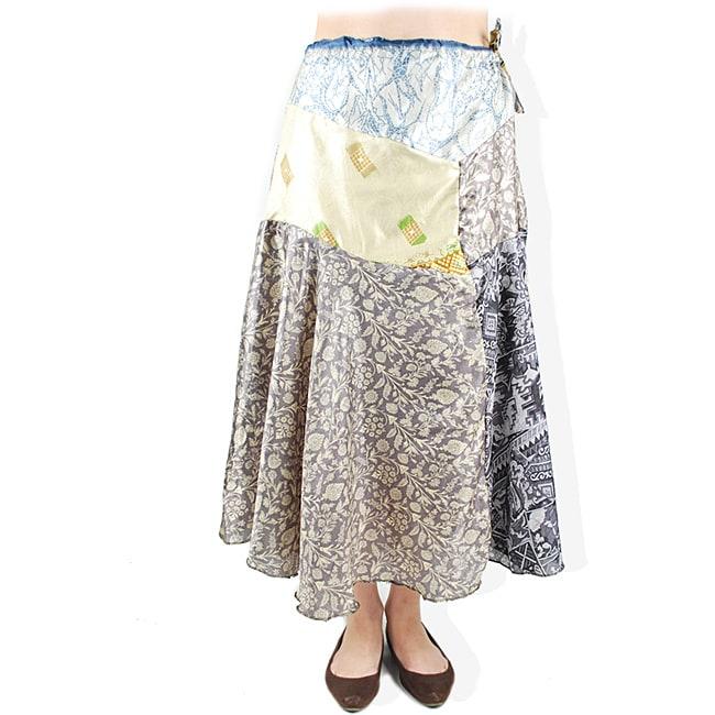 Recycled Silk Saree Skirt (Nepal)