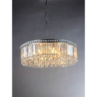 Crystal Pendant Lamp with Chrome Finish