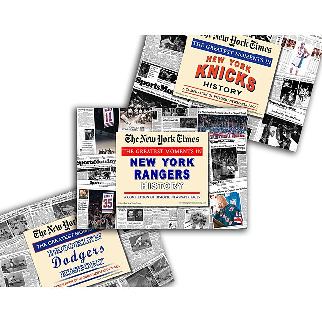 Collectible Newspaper Greatest Moments in Knicks, Rangers, and Brooklyn Dodgers History Gift Set - Thumbnail 0