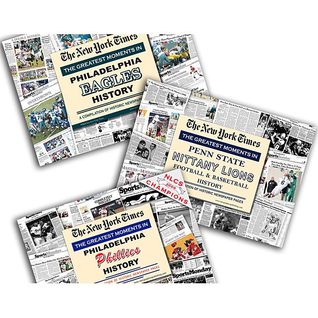 Collectible Newspaper Greatest Moments in Philadelphia: Phillies, Eagles, and Penn State History Gift Set