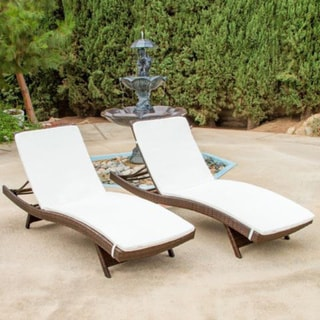6 Lounging Chairs For Outdoors Toscana Outdoor Wicker Adjustable Chaise Lounge With Cushion Set Of 2