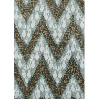 Alliyah Handmade Ikat Forest Green New Zealand Blend Wool Rug (8' x 10')