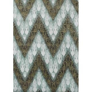 Alliyah Handmade Ikat Forest Green New Zealand Blend Wool Rug (8' x 10')|https://ak1.ostkcdn.com/images/products/6739704/P14284919.jpg?impolicy=medium