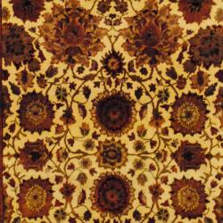 Herat Oriental Indo Hand-knotted Mahal Wool Rug (6'1 x 9'1) - Thumbnail 1