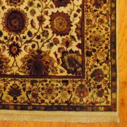 Herat Oriental Indo Hand-knotted Mahal Wool Rug (6'1 x 9'1) - Thumbnail 2
