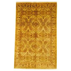 Herat Oriental Indo Hand-knotted Oushak Wool Rug (5'7 x 8'9)