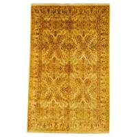 """Herat Oriental Indo Hand-knotted Oushak Wool Rug (5'7 x 8'9) - 5'7"""" x 8'9"""""""