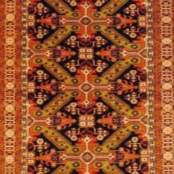Herat Oriental Persian Hand-knotted Tribal Kurdish Wool Rug (5'6 x 9'3) - Thumbnail 1