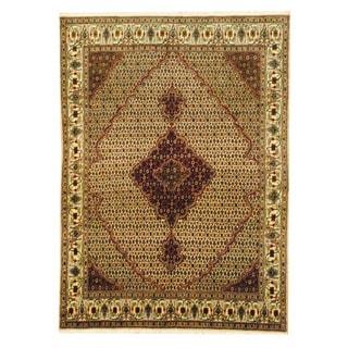 Herat Oriental Persian Hand-knotted Tabriz Wool Rug (5'10 x 7'10)