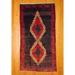 Herat Oriental Persian Hand-knotted Tribal Bidjar Navy/ Red Wool Rug (5' x 9'2)