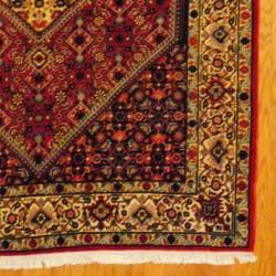Persian Hand-knotted Tribal Bidjar Red/ Navy Wool Rug (5'3 x 8'1)