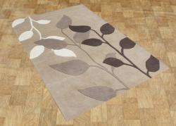 Alliyah Handmade Latte New Zealand Blend Wool Rug (8' x 10') - Thumbnail 1