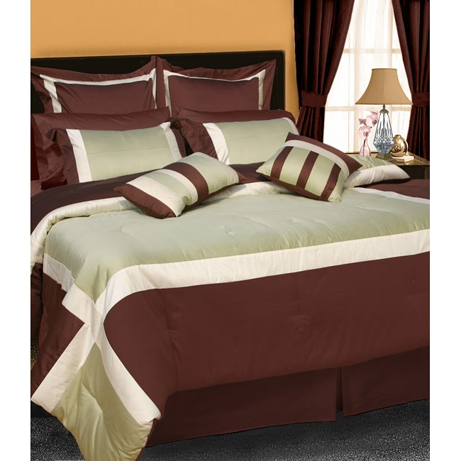 Vienna 8-piece Luxury Colorblock Comforter Set