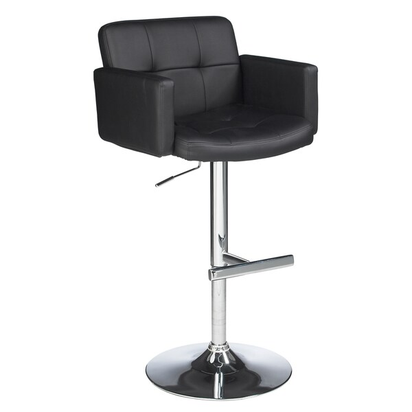 Sunpan Churchill Adjustable Black Barstool