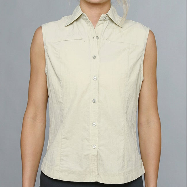 10,000 Feet Above Sea Level Women's Stone Outdoor Sleeveless Shirt