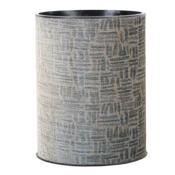 1530 LaMont Home 'Zoe' Black/Silver Round Wastebasket