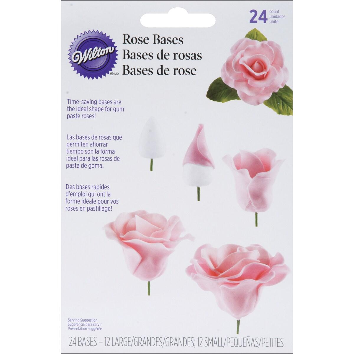 Gum Paste Rose Bases 24/Pkg