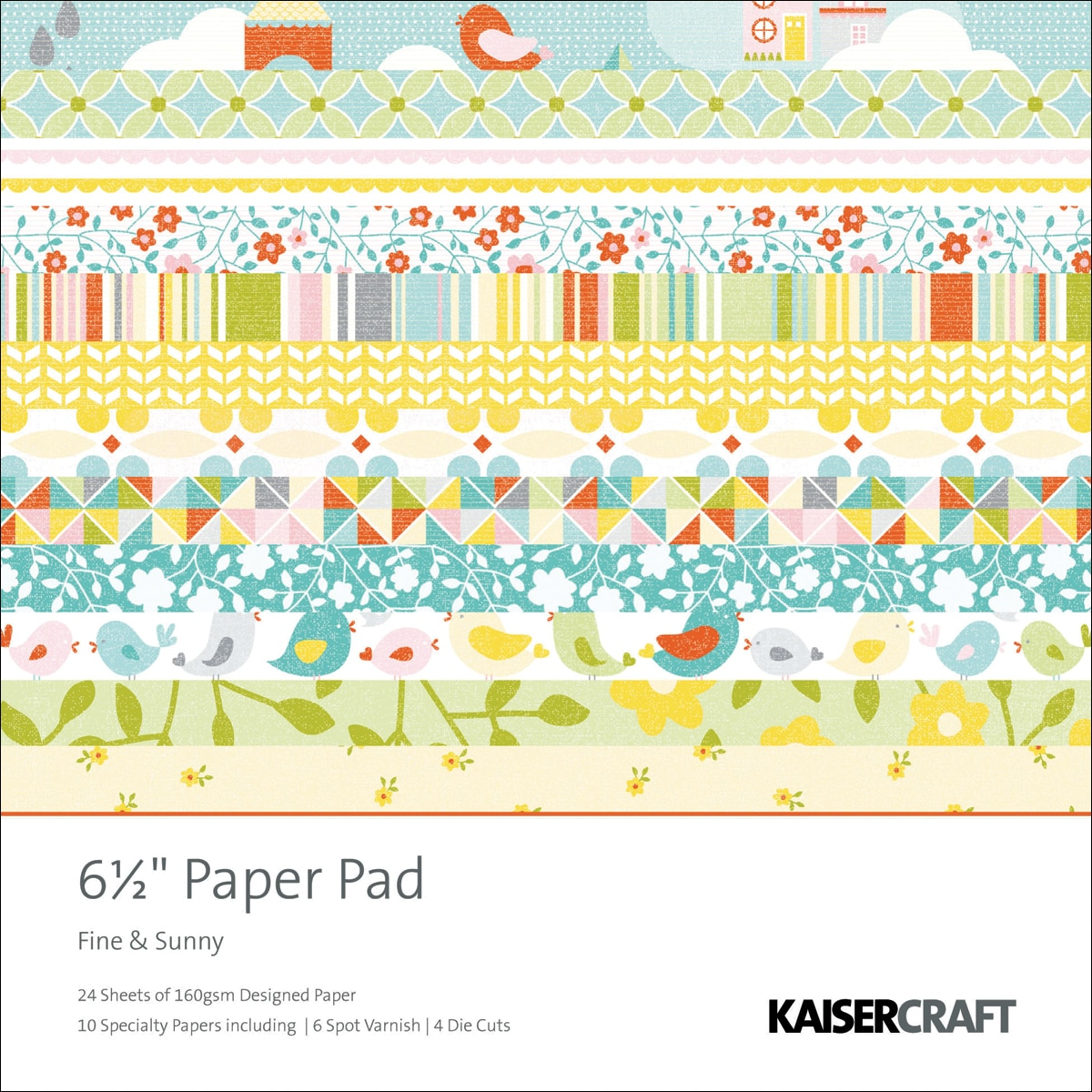 "Fine & Sunny Paper Pad 6.5""X6.5""-40 Sheets"