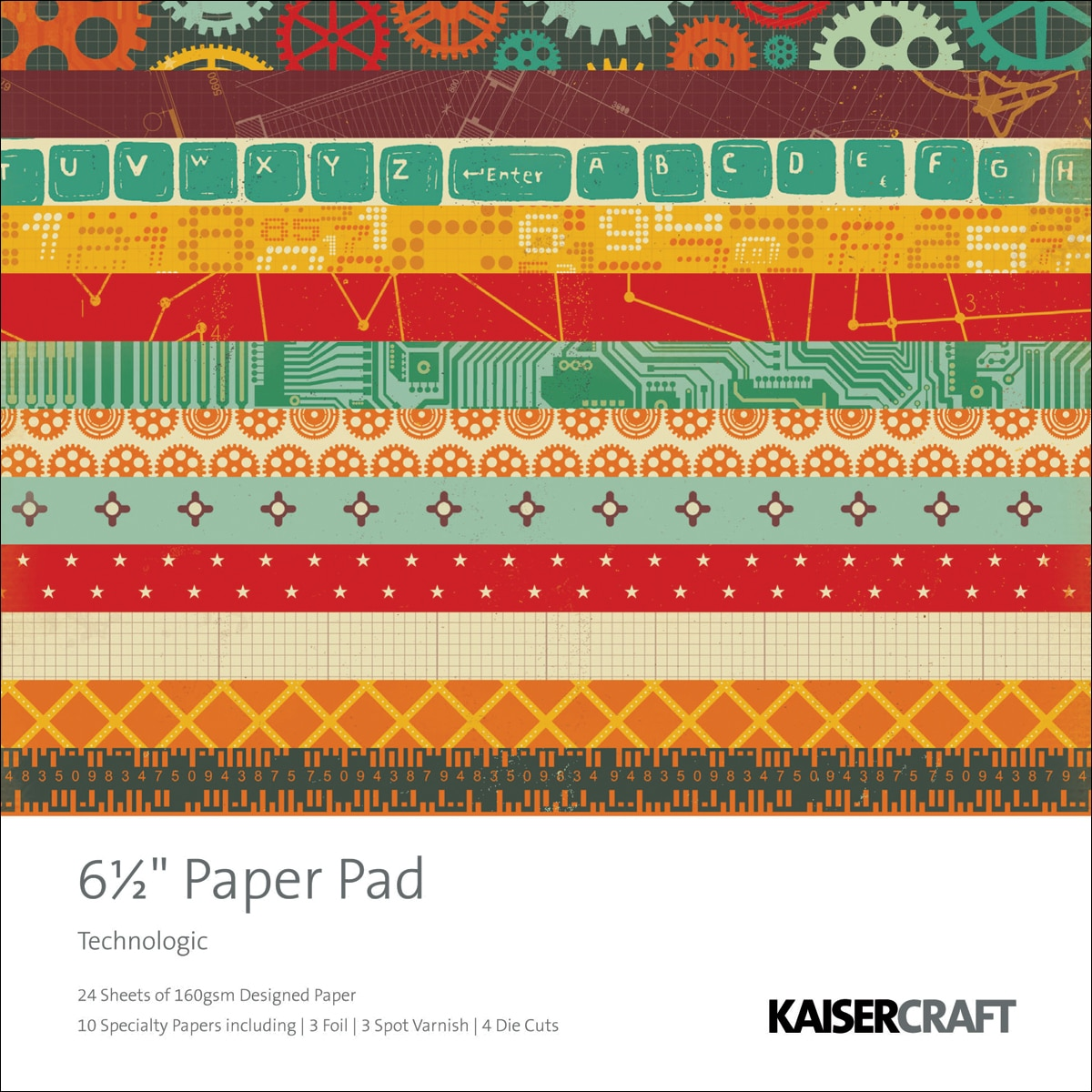 "Technologic Paper Pad 6.5""X6.5""-40 Sheets"