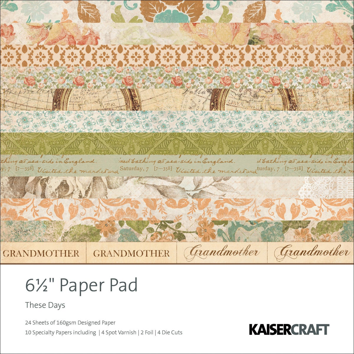 """These Days Paper Pad 6.5""""X6.5""""-40 Sheets"""