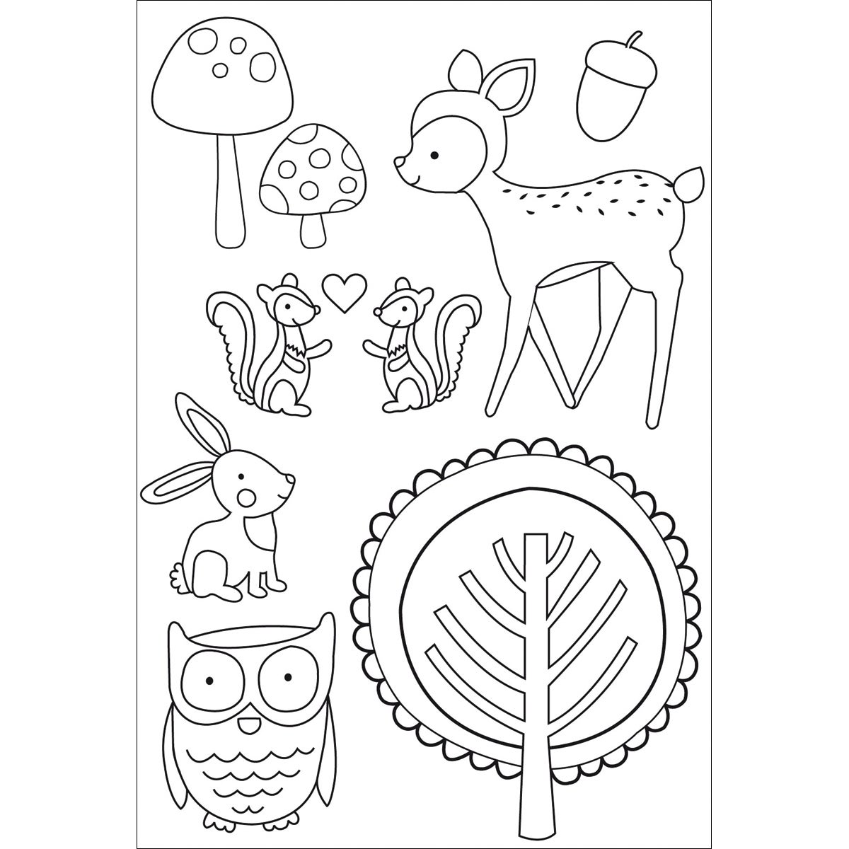 Tiny Woods Clear Stamps