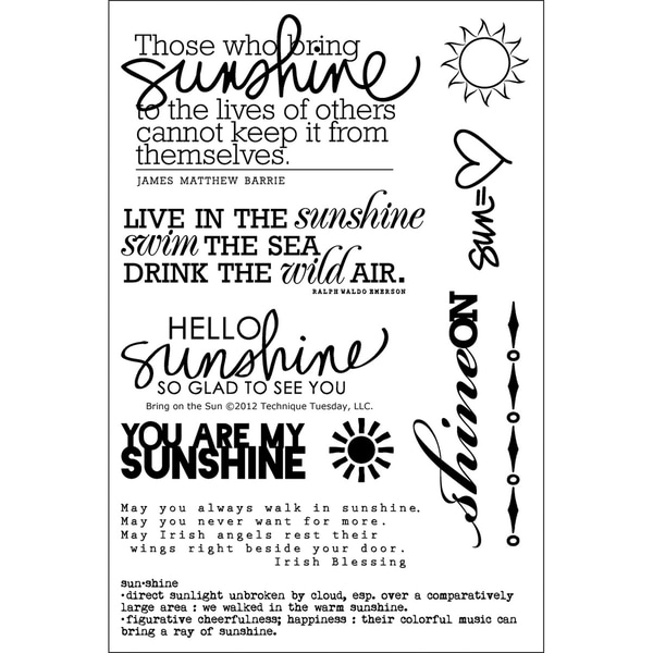 Technique Tuesday Clear Stamps -Bring On The Sun