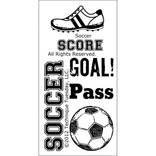 Technique Tuesday Clear Stamps -Soccer