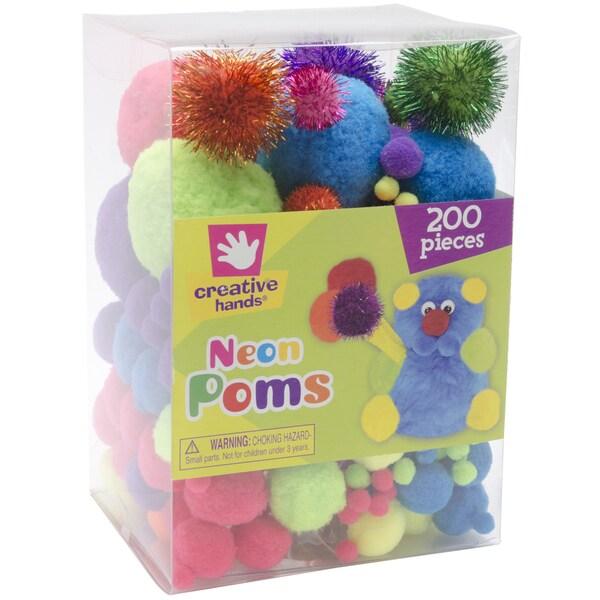 Pom Poms 200/Pkg-Neon