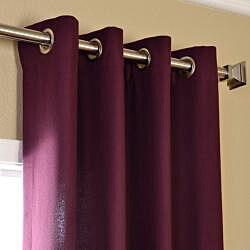 Exclusive Fabrics Grape Cotenza Faux Cotton Grommet Curtain Panel