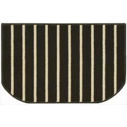 Nourison Essentials Stripe Black Rug (2'6 x 1'7)